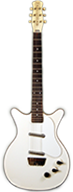 Danelectro Two pickup White Deluxe