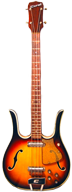 Coral Semi-Hollw Body Longhorn Bass with Speckled Pickguard