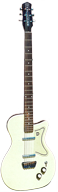 1957 Danelectro Ivory Vinyl Covered 6 String Bass Guitar